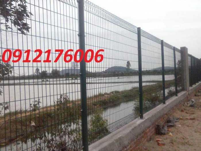 Hàng rào lưới thép hàn D5 a 50x150, 50x200 mạ kẽm sơn tĩnh điện.5