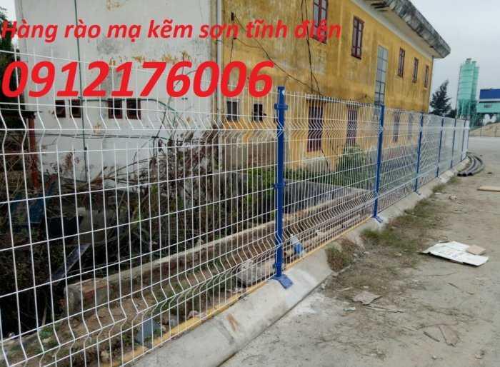 Hàng rào lưới thép hàn D5 a 50x150, 50x200 mạ kẽm sơn tĩnh điện.2