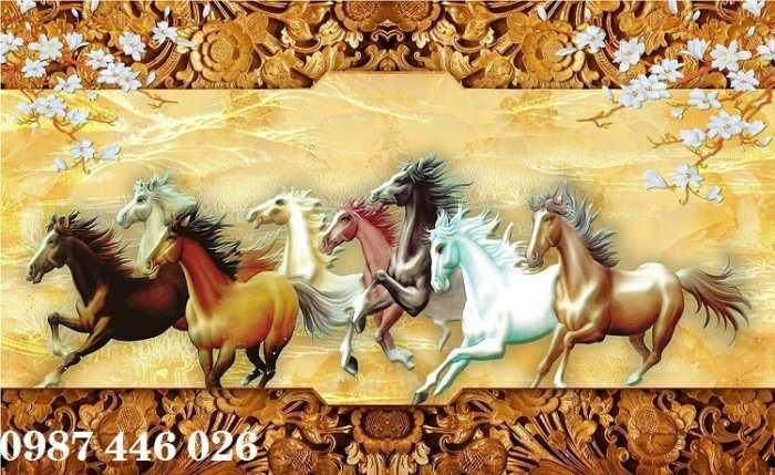 Tranh gạch men mã ngựa- tranh ốp tường HP5622