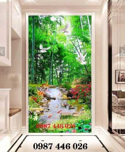 Tranh gạch men trang trí tường cây xanh Hp7221