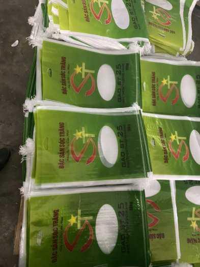 Bao đựng gạo 5kg - 10kg  có quai xách1