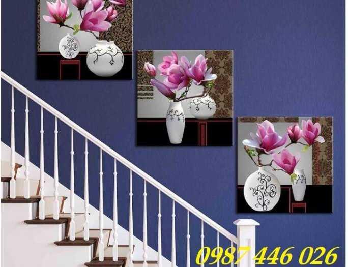 Gạch tranh bình hoa ốp cầu thang, lối đi HP821