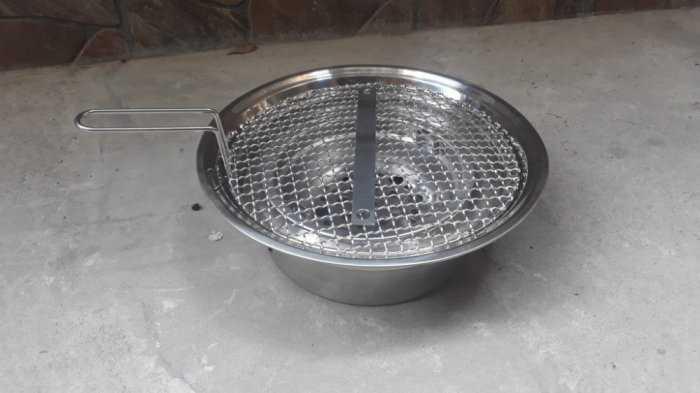 Bếp nướng than hoa âm bàn DK01 được làm hoàn toàn bằng inox cao cấp3