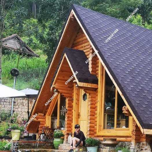 Ngói biutm cana và nhà gỗ, bungalow2