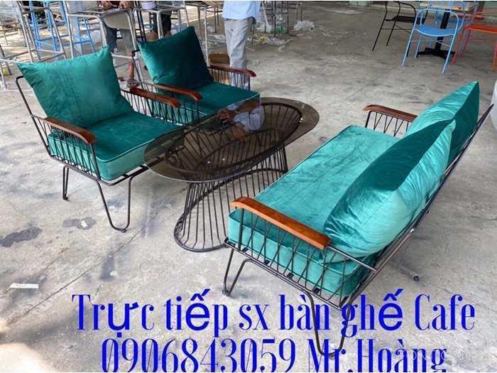 Bộ bàn ghế sắt nệm giá xưởng - nội thất Nguyễn hoàng0