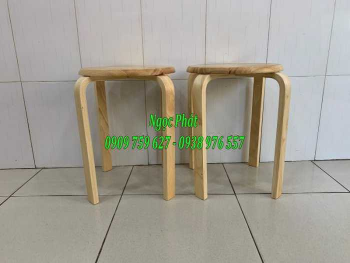 Ghế đẩu - Ghế gỗ chân dẹp - Ghế đôn gỗ - Ngọc Phát9