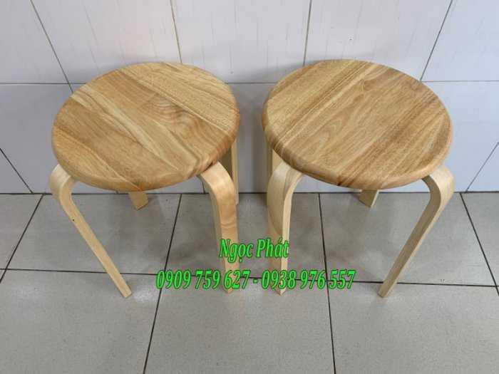 Ghế đẩu - Ghế gỗ chân dẹp - Ghế đôn gỗ - Ngọc Phát8