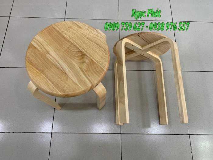 Ghế đẩu - Ghế gỗ chân dẹp - Ghế đôn gỗ - Ngọc Phát7