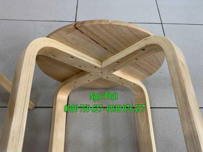 Ghế đẩu - Ghế gỗ chân dẹp - Ghế đôn gỗ - Ngọc Phát5