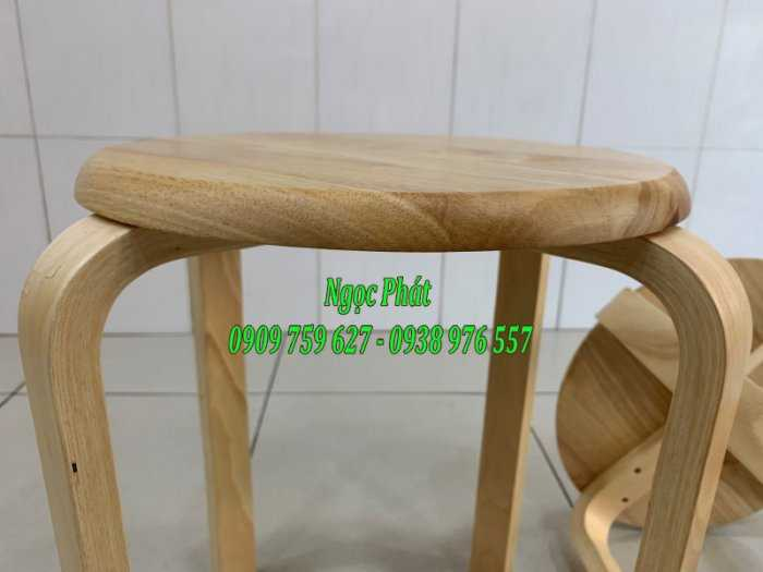 Ghế đẩu - Ghế gỗ chân dẹp - Ghế đôn gỗ - Ngọc Phát4