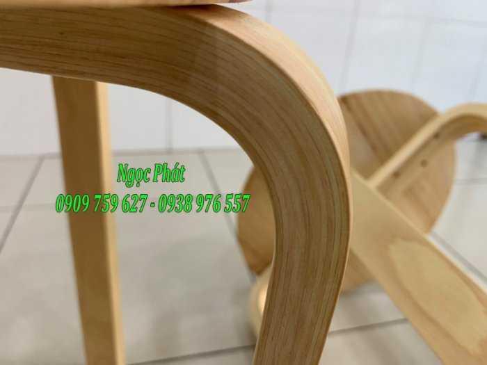 Ghế đẩu - Ghế gỗ chân dẹp - Ghế đôn gỗ - Ngọc Phát3