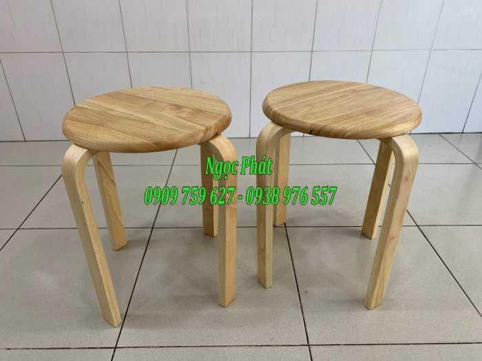 Ghế đẩu - Ghế gỗ chân dẹp - Ghế đôn gỗ - Ngọc Phát2
