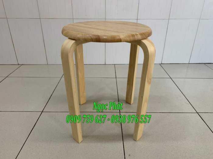 Ghế đẩu - Ghế gỗ chân dẹp - Ghế đôn gỗ - Ngọc Phát1