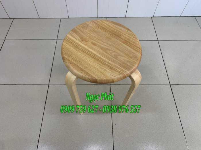 Ghế đẩu - Ghế gỗ chân dẹp - Ghế đôn gỗ - Ngọc Phát0