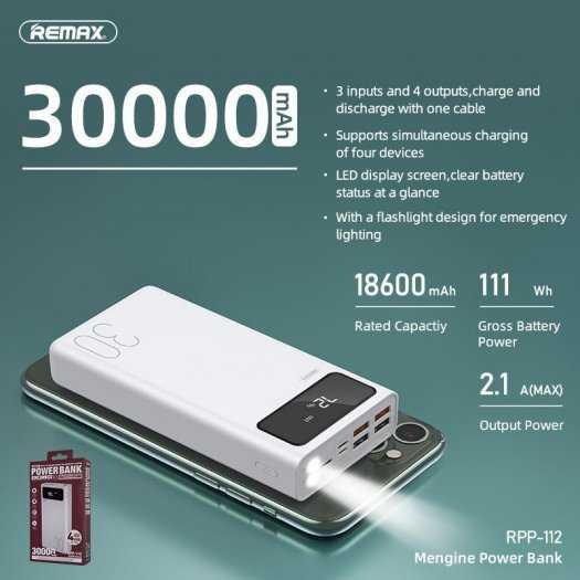 Pin Sạc dự phòng REMAX RPP-112 30.000MAH Chính Hãng REMAX0