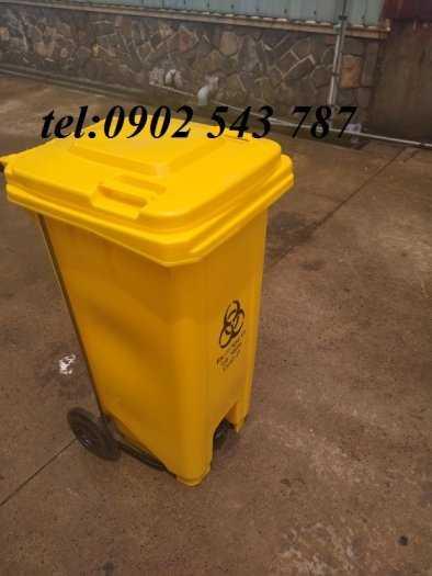 Thùng rác y tế màu vàng ,thùng đựng rác y tế5