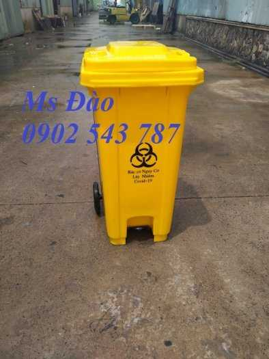 Thùng rác y tế màu vàng ,thùng đựng rác y tế4