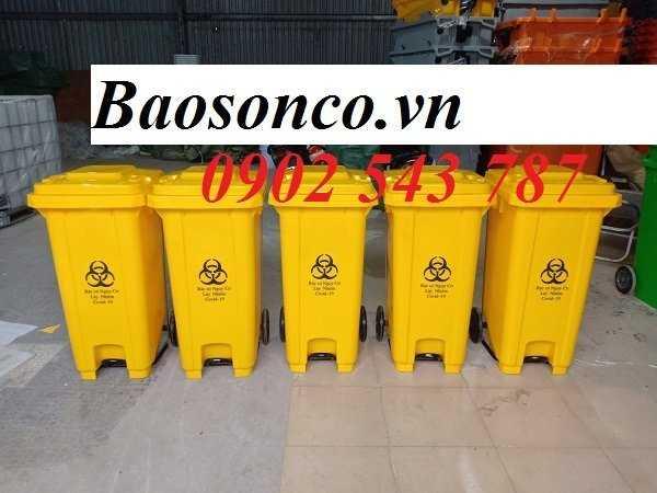 Thùng rác y tế màu vàng ,thùng đựng rác y tế3
