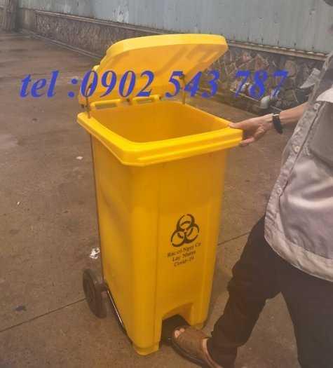 Thùng rác y tế màu vàng ,thùng đựng rác y tế2