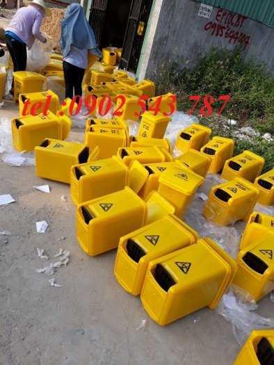 Thùng rác y tế màu vàng ,thùng đựng rác y tế1
