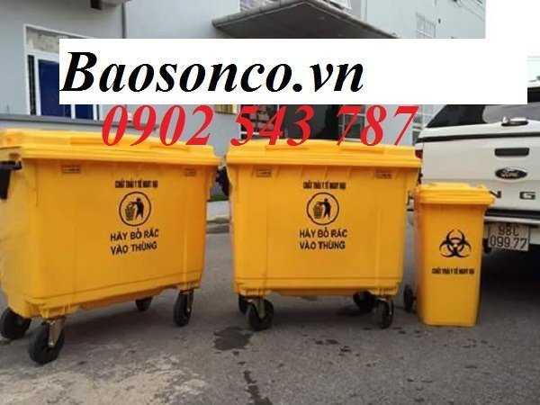 Thùng rác y tế màu vàng ,thùng đựng rác y tế0