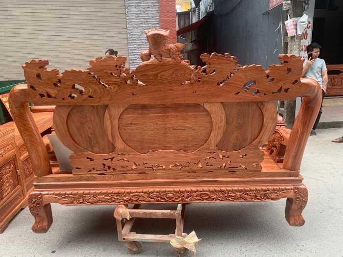 Bộ bàn ghế giả cổ nghê đỉnh gỗ hương đá10