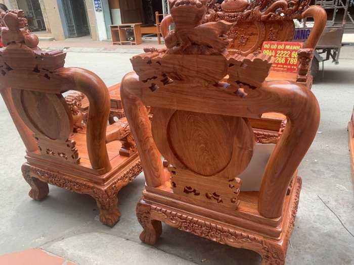 Bộ bàn ghế giả cổ nghê đỉnh gỗ hương đá8