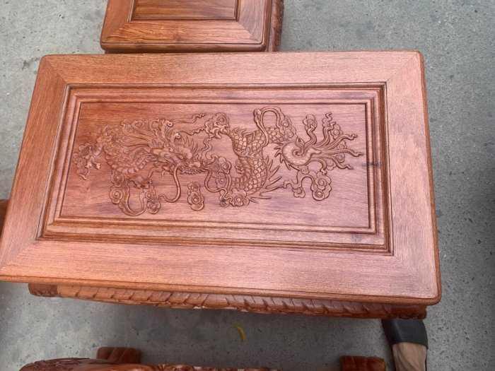 Bộ bàn ghế giả cổ nghê đỉnh gỗ hương đá4