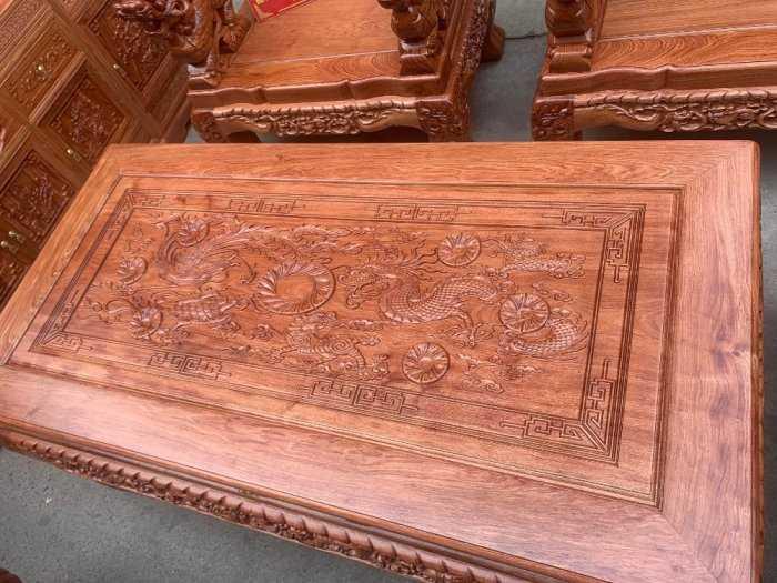 Bộ bàn ghế giả cổ nghê đỉnh gỗ hương đá3