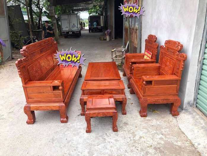 Bộ bàn ghế giá cổ phù dung gỗ hương đá2