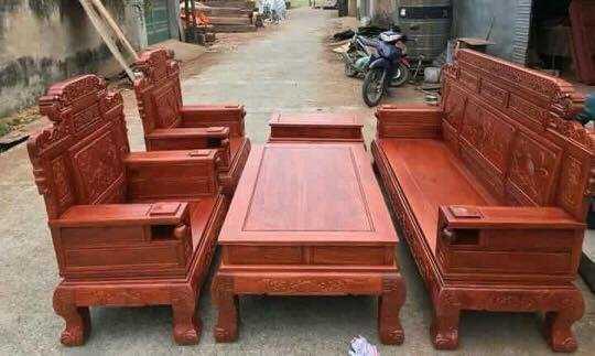 Bộ bàn ghế giá cổ phù dung gỗ hương đá1