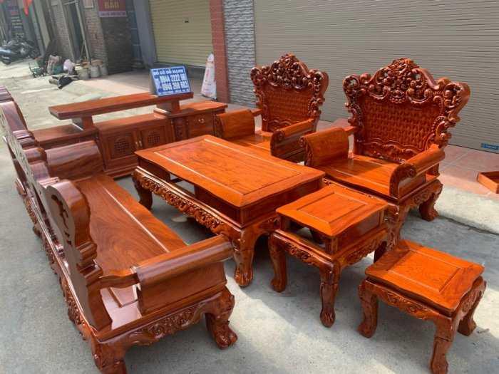Bộ bàn ghế phòng khách kiểu hoàng gia gỗ hương đá6