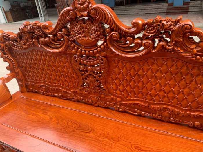 Bộ bàn ghế phòng khách kiểu hoàng gia gỗ hương đá5