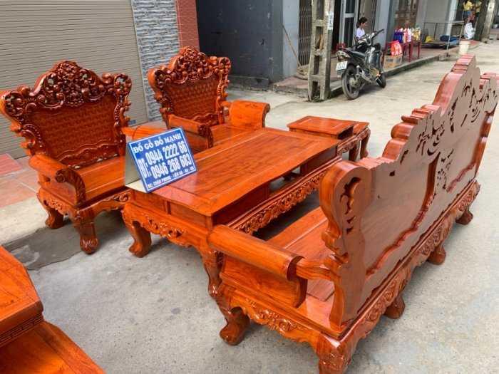 Bộ bàn ghế phòng khách kiểu hoàng gia gỗ hương đá3