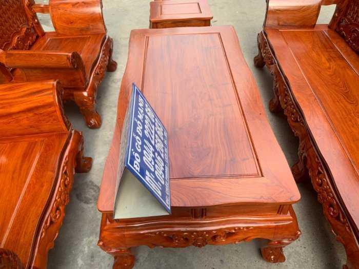 Bộ bàn ghế phòng khách kiểu hoàng gia gỗ hương đá2