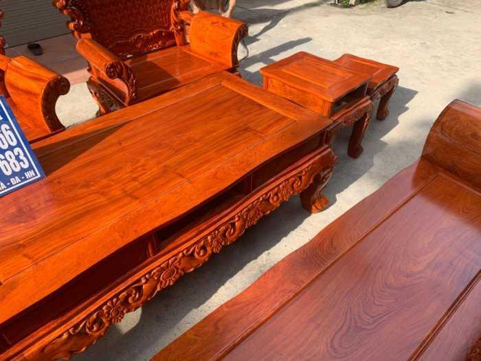 Bộ bàn ghế phòng khách kiểu hoàng gia gỗ hương đá1