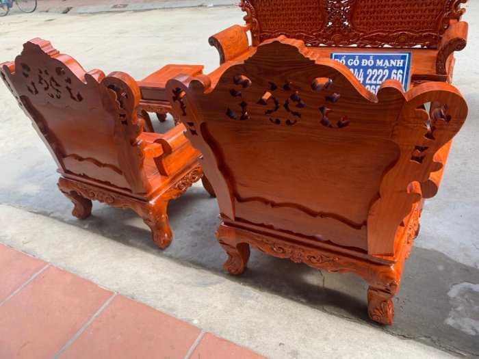 Bộ bàn ghế phòng khách kiểu hoàng gia gỗ hương đá0