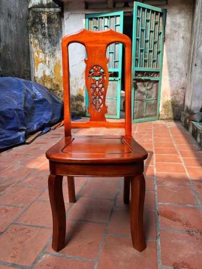 Bộ bàn ghế phòng ăn chữ nhật - gỗ xoan đào1