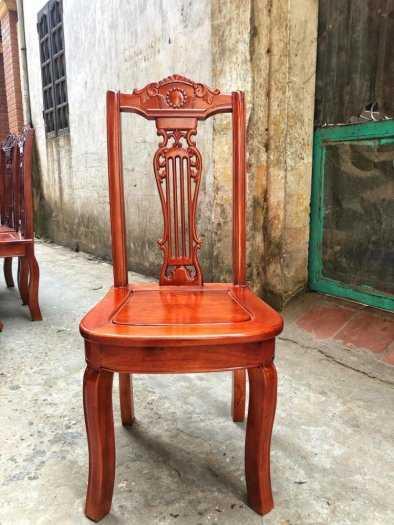 Bộ bàn ghế phòng ăn chữ nhật - gỗ xoan đào0