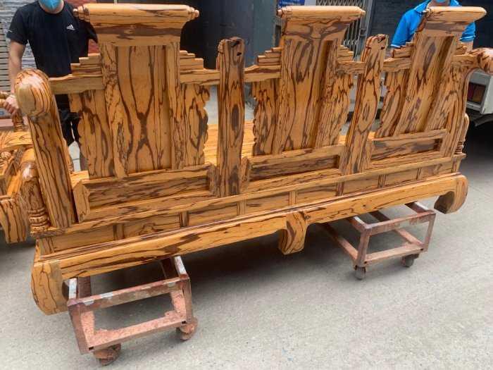 Bộ bàn ghế giả cổ tần thủy hoàng gỗ mun da báo9