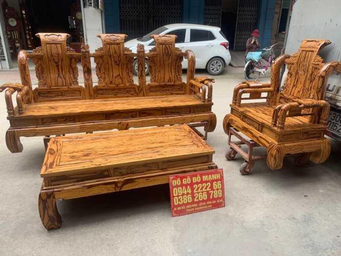 Bộ bàn ghế giả cổ tần thủy hoàng gỗ mun da báo7