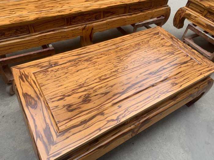 Bộ bàn ghế giả cổ tần thủy hoàng gỗ mun da báo6
