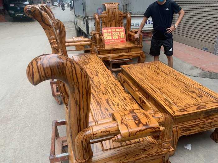 Bộ bàn ghế giả cổ tần thủy hoàng gỗ mun da báo5