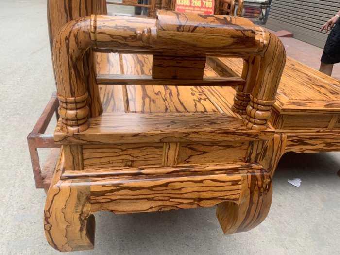 Bộ bàn ghế giả cổ tần thủy hoàng gỗ mun da báo4