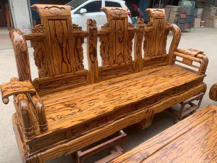 Bộ bàn ghế giả cổ tần thủy hoàng gỗ mun da báo3
