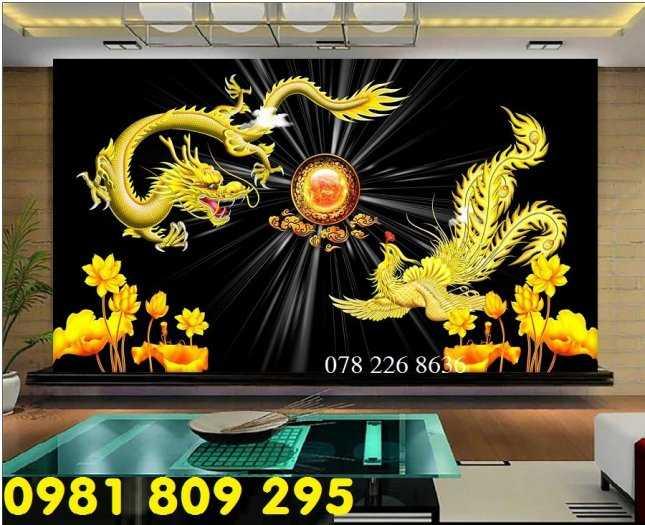 Gạch 3d rồng phượng - tranh gạch long phụng trang trí