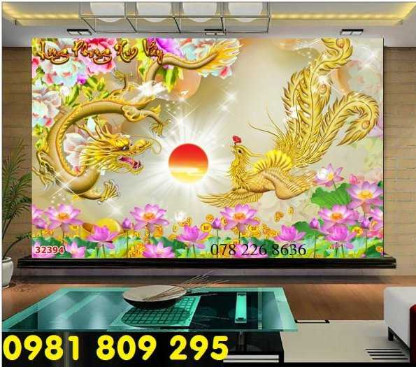 Gạch tranh 3d rồng vàng - tranh long phụng