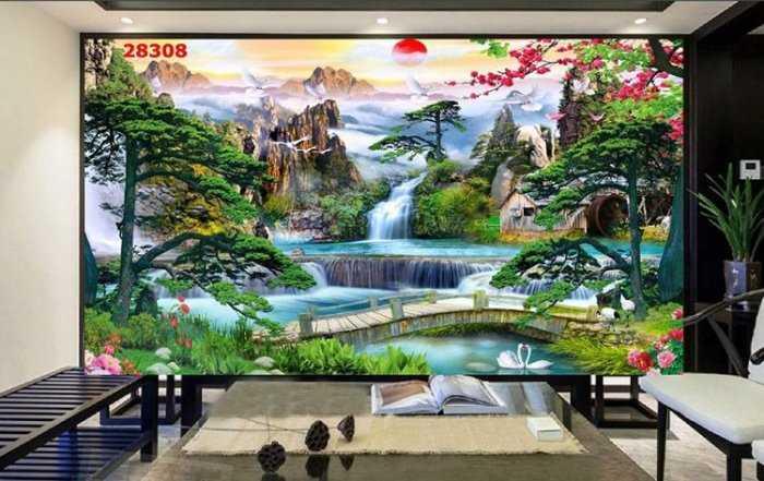 Tranh 3d phong cảnh thiên nhiên - gạch tranh 3d2