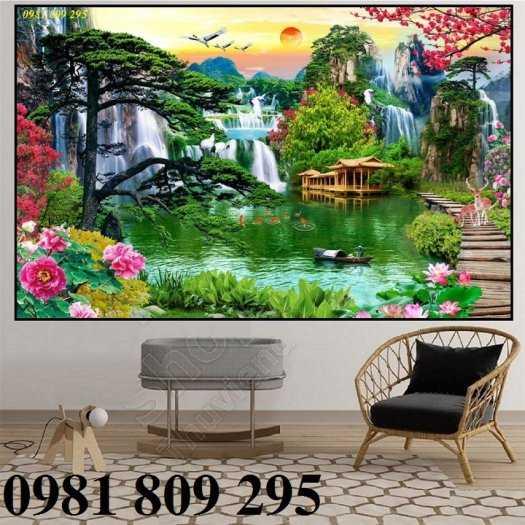 Tranh 3d phong cảnh thiên nhiên - gạch tranh 3d1