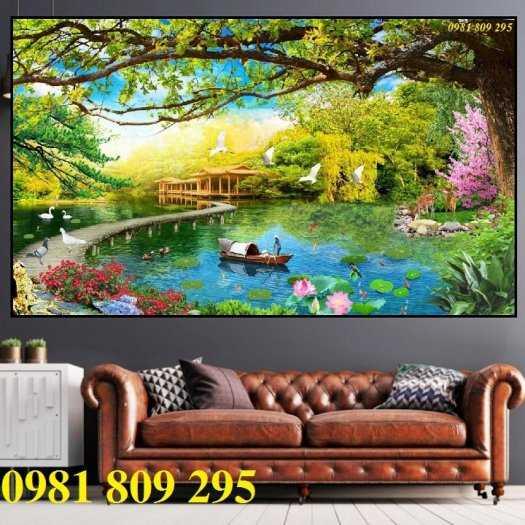 Tranh 3d phong cảnh thiên nhiên - gạch tranh 3d0